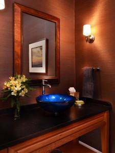 blue sink bathroom